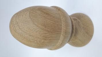 Шар на столб из дуба без сучка (Ø 80 мм)