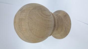 Шар на столб из дуба без сучка (Ø 100 мм)