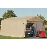 Гараж-в-Коробке 3x6,1x2,4м ShelterLogic, скатная крыша, песочный тент