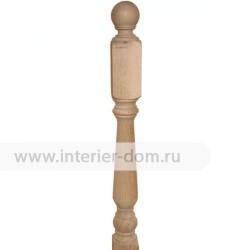 Столб заходный из бука без сучка 100-Лебедь (100*100*1200 мм)
