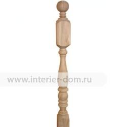 Столб заходный из дуба без сучка 80-Бутылка (80*80*1200 мм)