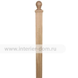 Столб заходный из дуба без сучка 80-Квадрат (80*80*1200 мм)