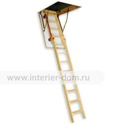 Чердачная деревянная лестница FAKRO LDK (двухсекционная раздвижная)