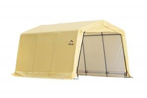 Гараж-в-Коробке 3x4,6x2,4м ShelterLogic, скатная крыша, песочный тент