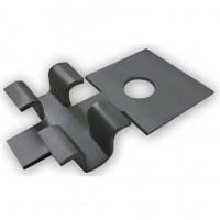 Клипса металлическая для монтажа планкена