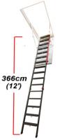 """Чердачная металлическая лестница FAKRO """"LMP"""" для помещений с высокими потолками"""