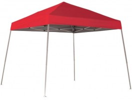 Шатер раскладной 3х3м Shelterlogic, наклонные ноги, красный тент, сумка на колесах в комплекте