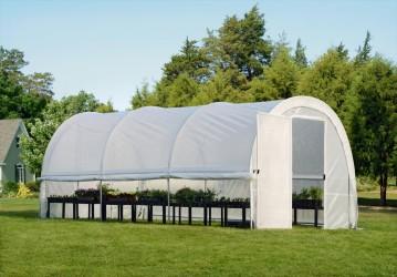 Теплица-в-Коробке 3x6x2,4м, круглая крыша, светорассеивающий тент, жёсткая дверь. CoverIT