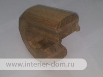 Окончание поручня из дуба без сучка (52*78 мм) стык