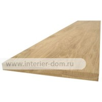 Мебельный щит из дуба без сучка до 2,0 м (16 мм) цельноламельный