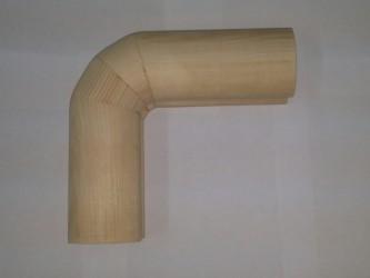 Поворот поручня из дуба без сучка (52*78 мм)