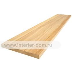 Мебельный щит из лиственницы без сучка до 1,5м (18 мм) цельноламельный